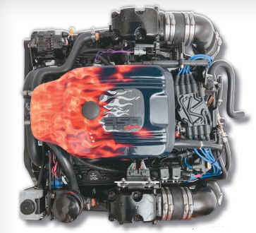 PLUS Series 350 MAG MPI Alpha Bobtail Marine Engine - Click Here to See Product Details