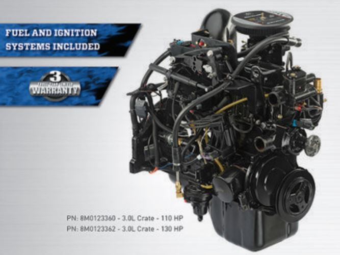 MerCruiser Quicksilver 130 Hp 3.0L Crate Engine - Click Here to See Product Details
