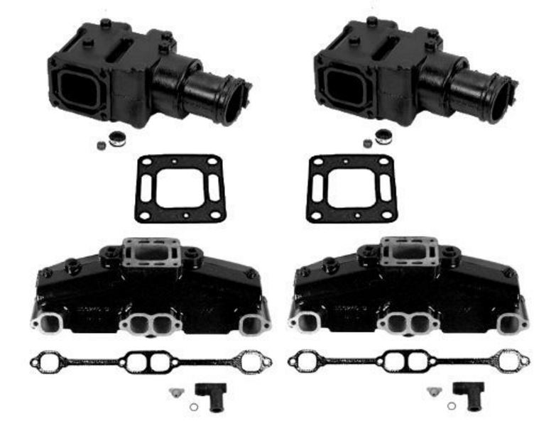 MerCruiser (OEM) Exhaust Manifold & (4 Inch) Riser Kit - 5.7L / 5.0L / 6.2L Engine Models (1983-2002) - Click Here to See Product Details