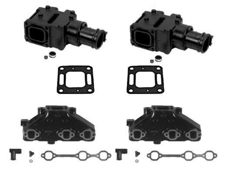 MerCruiser 4.3 V6 (OEM) Exhaust Manifold and (4 Inch) Riser Kit 1983-2002 Models - Click Here to See Product Details