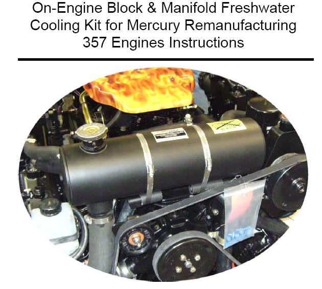 Freshwater Cooling Full System for Mercruiser 357 Magnum Engines with Serpentine Belt - Click Here to See Product Details