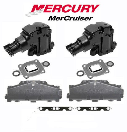 OEM Mercruiser 2002-2005 V8 Cast Iron Dry Joint Exhaust Manifold &