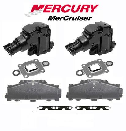 OEM Mercruiser 2005 & Newer V8 Cast Iron Dry Joint Exhaust Manifold &