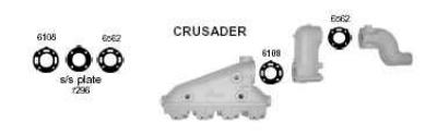 Crusader Exhaust, Crusader Exhaust Manifolds, Crusader Exhaust Manifold, Crusader Exhaust Tips