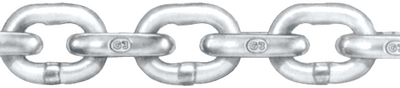 HOT GALVANIZED GRADE 30 PROOF COIL CHAIN (#251-401140601) - Click Here to See Product Details