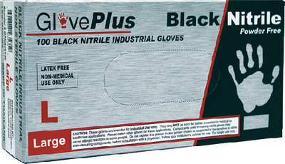 TEXTURED INDUSTRIAL GRADE BLACK NITRILE GLOVES (#674-GPNB46100) - Click Here to See Product Details