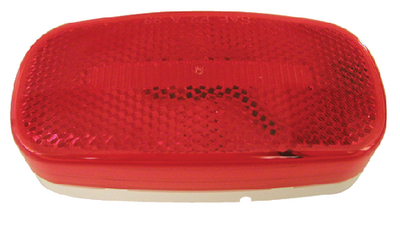 180 PIRANHA<sup>®</sup> LED OVAL CLEARANCE & SIDE MARKER LIGHT WITH REFLEX (#177-V180R) - Click Here to See Product Details
