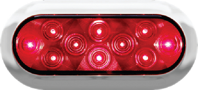 PIRANHA<sup>®</sup> LED OVAL STOP, TURN TAIL LIGHT With CHROME BEZEL (#177-V423XR4) - Click Here to See Product Details