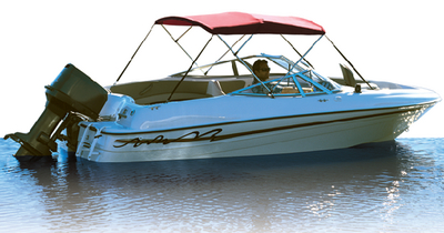 3 BOW BIMINI FRAME and FABRIC PRE-ASSEMBLED (#23-10343XNV) - Click Here to See Product Details
