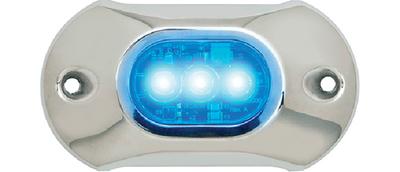 ATTWOOD MARINE UW 3 LED BLUE-PREMCOVER (66UW03B-7)