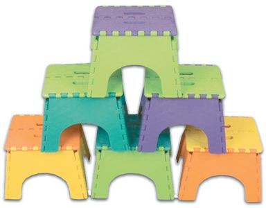 B & R PLASTICS, INC 9IN FOLDZ 2-TONE ASSORT 6/CASE (101-6TT)
