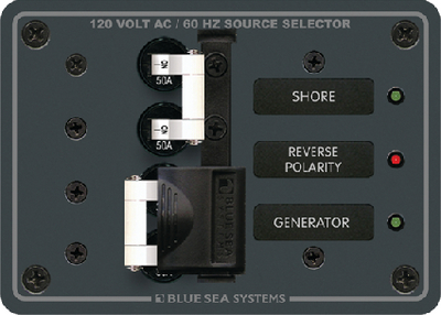 AC SOURCE SELECTOR PANEL 50 AMP 120V AC (#661-8061) - Click Here to See Product Details