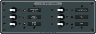 DC BRANCH 6 POSITION CIRCUIT BREAKER PANEL (#661-8096) - Click Here to See Product Details