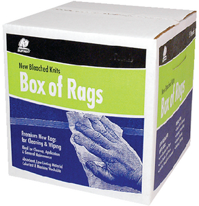 BUFFALO RAGS NEW BLEACHED KNITS - 8LB BOX (12026)
