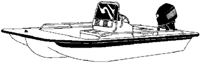 CENTER CONSOLE BAY STYLE FISHING WITH SHALLOW DRAFT HULL (#500-71020P) - Click Here to See Product Details
