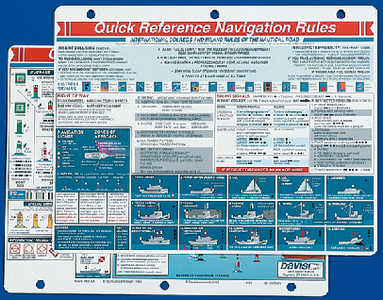 NAVIGATION RULES QUICK REFERENCE CARD (#166-125) - Click Here to See Product Details