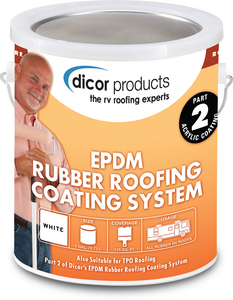 DICOR CORPORATION WHT RUBR ROOF/ACRY COATING (RP-CRC-1)