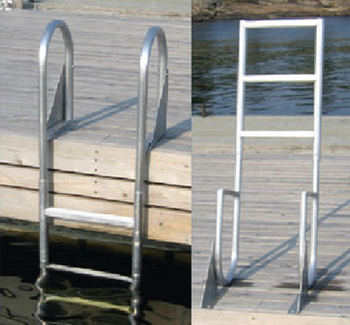 WELDED HEAVY DUTY ALUMINUM FLIP-UP LADDERS (#686-2023F) - Click Here to See Product Details