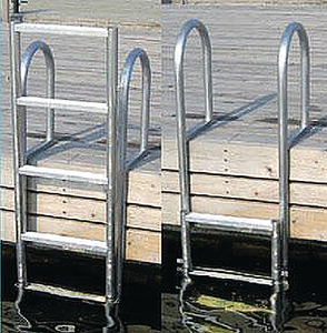 WELDED HEAVY DUTY ALUMINUM SLIDE UP LADDER (#686-2035F) - Click Here to See Product Details