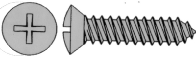 PHILLIPS SELF-TAPPING SCREW - OVAL HEAD (#4-0259) - Click Here to See Product Details