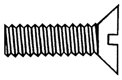 SLOTTED MACHINE SCREWS - FLAT HEAD (#4-0504) - Click Here to See Product Details