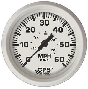 FARIA INSTRUMENTS DRESS WHITE GPS SPEEDO 60 MPH (33147)
