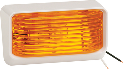 FULTON/WESBAR (CEQUENT) PORCH LIGHT AMBER #78 WHT BS (31-78-532)