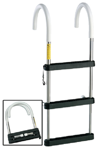 STAINLESS STEEL TELESCOPING BOARDING LADDER (#3-06141) - Click Here to See Product Details