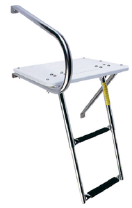 TRANSOM PLATFORM WITH TELESCOPING LADDER (#3-19536) - Click Here to See Product Details