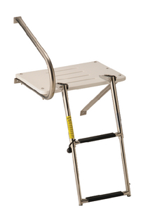 TRANSOM PLATFORM WITH TELESCOPING LADDER (#3-19537) - Click Here to See Product Details