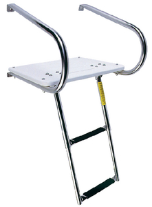 TRANSOM PLATFORM WITH TELESCOPING LADDER (#3-19546) - Click Here to See Product Details