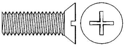 MACHINE SCREWS - PHILLIPS FLAT HEAD (#8-780) - Click Here to See Product Details