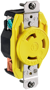 30 AMP LOCKING RECEPTACLE (#36-HBL305CRR) - Click Here to See Product Details