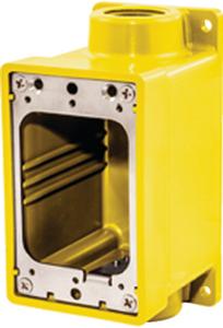"HUBBELL WATERTIGHT FD BOX 3/4"" YELLOW (HBL60CM83A)"