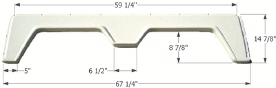 "ICON TECHNOLOGIES FENDER SKIRT TANDEM 61 1/2""X15 (00390)"