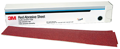 3M<sup>TM</sup> RED ABRASIVE HOOKIT<sup>TM</sup> SHEET (#71-01181) - Click Here to See Product Details