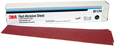 3M<sup>TM</sup> RED ABRASIVE STIKIT<sup>TM</sup> SHEET (#71-01679) - Click Here to See Product Details