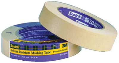 SCOTCH<sup>®</sup> SOLVENT RESISTANT MASKING TAPE - #2040 (#71-02993) - Click Here to See Product Details
