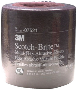 SCOTCH-BRITE<sup>TM</sup> MULTI FLEX ABRASIVE SHEET ROLL (#71-07521) - Click Here to See Product Details