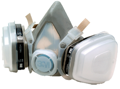DUAL CARTRIDGE RESPIRATOR ASSEMBLY<BR>ORGANIC VAPOR P95 (#71-52P71) - Click Here to See Product Details
