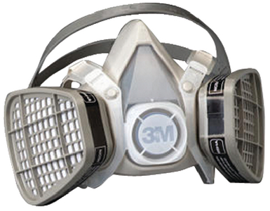 HALF FACE-PIECE ORGANIC VAPOR RESPIRATOR (#71-5301) - Click Here to See Product Details