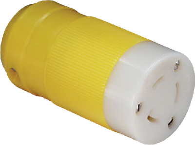 20 AMP LOCKING CONNECTOR AND PLUG (#69-205CRCN) - Click Here to See Product Details