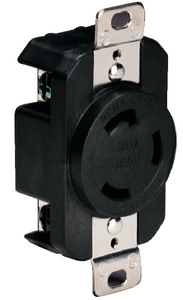 BOAT END 30A LOCKING RECEPTACLE (#69-305CRRB) - Click Here to See Product Details