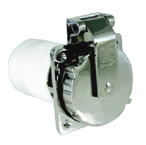 STAINLESS STEEL POWER INLET (#69-6371ELB) - Click Here to See Product Details