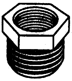 PLASTIC HEX BUSHINGS (#38-28661W) - Click Here to See Product Details