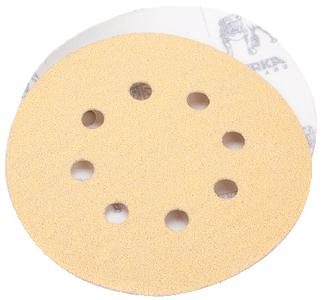 "MIRKA ABRASIVES GOLD 6"" 6H GRIP VAC DISC 100G (23-624-100)"