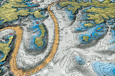 HOTMAPS PLATINUM MULTI-DIMENSIONAL LAKE MAPS (#155-SDHMPTN6) - Click Here to See Product Details