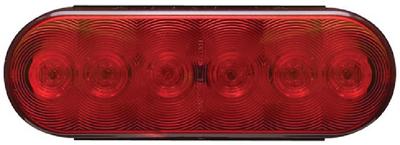 "OPTRONICS 6LED 6"" OVAL TAIL LIGHT (STL12RBP)"