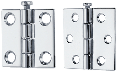 BUTT HINGES - REMOVABLE PIN (#9-1293DP9CHR) - Click Here to See Product Details