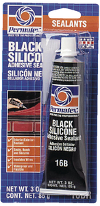 BLACK SILICONE ADHESIVE SEALANT (#180-81158) - Click Here to See Product Details